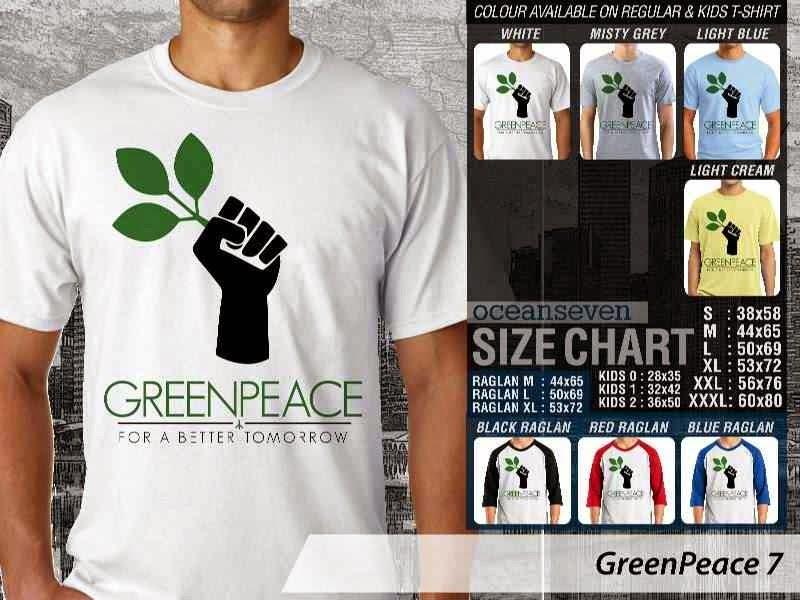 KAOS Cinta Bumi GreenPeace 7 | KAOS Selmatkan Bumi greenpeace distro ocean seven