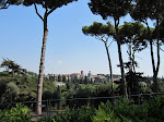 Just love the clear blue sky and the beautiful Italian trees and buildings