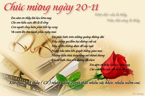 Thiệp 20-11 dễ thương