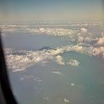 pierwsi przyjaciele podróży: wulkany widziane z okien samolotu
