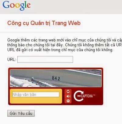 đưa blogspot lên google