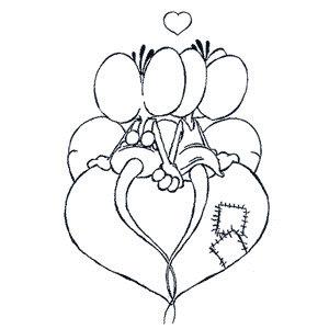 dibujos san valentin colorear