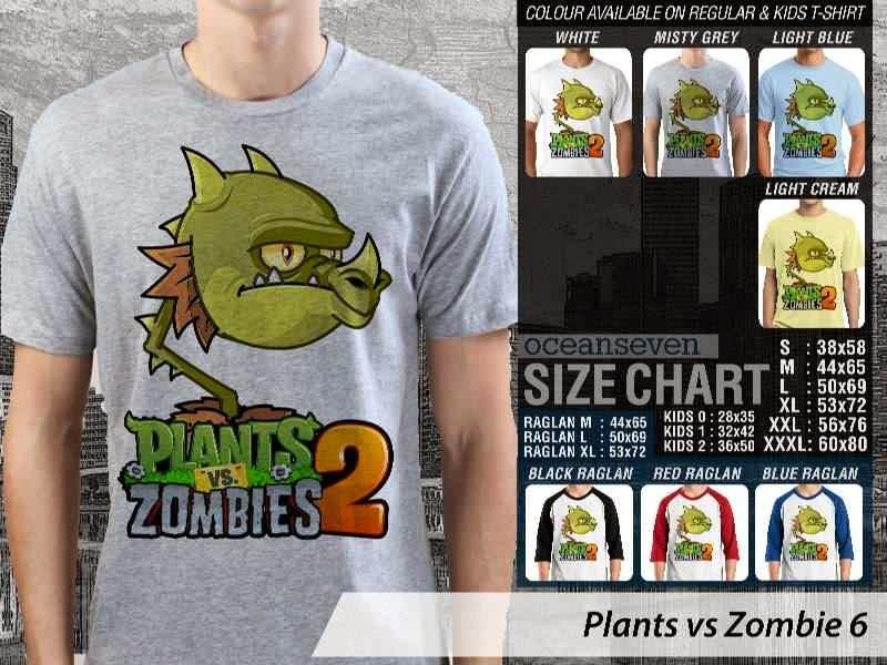 KAOS Plants VS Zombie pvz 6 Game Lucu distro ocean seven