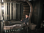 they have a crazy space couch...so I go for the cheesiest picture possible