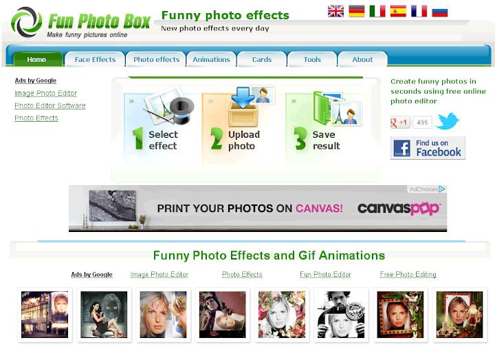 efectos de una imagen