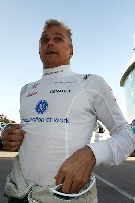 Хейкки Ковалайнен на предсезонных тестах 2012 в Хересе
