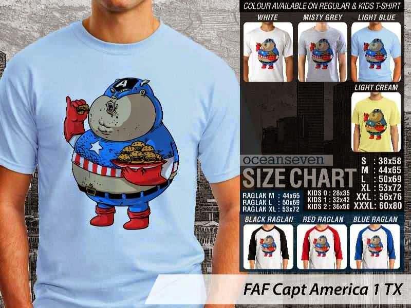 Kaos Kartun Lucu Capt America 1 distro ocean seven