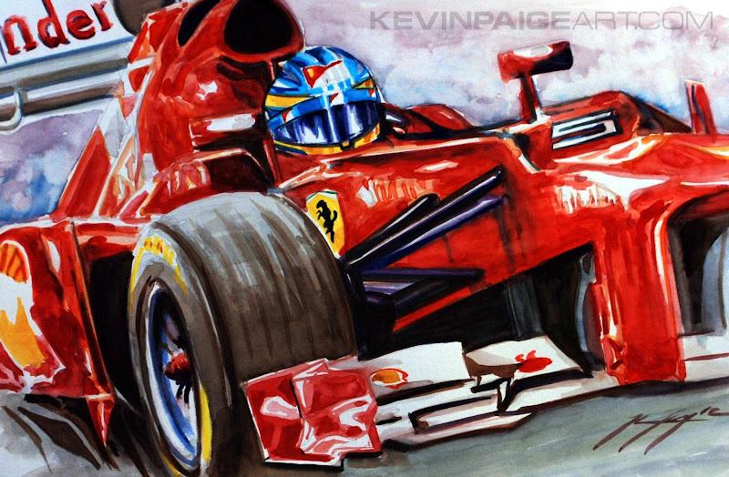 Фернандо Алонсо Ferrari F2012 by Kevin Paige