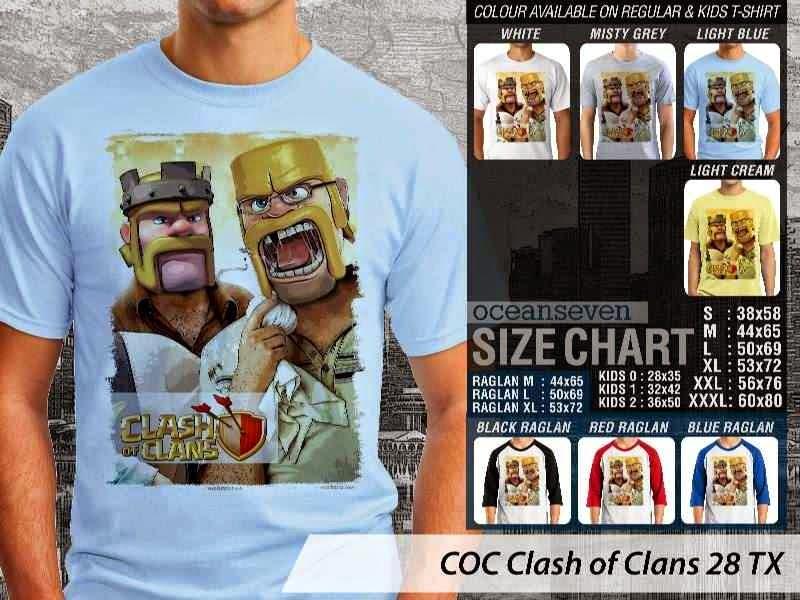 Kaos COC Clash of Clans 28 distro ocean seven