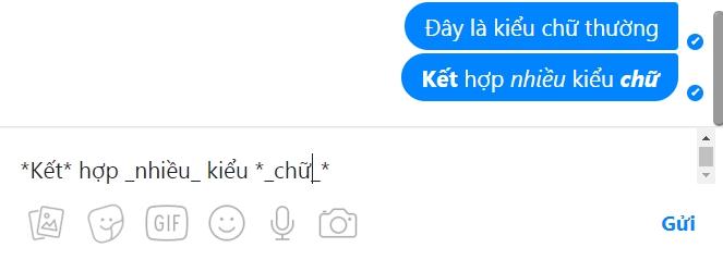 ket hop nhieu kieu chu tren facebook messenger - Hướng Dẫn Đổi Kiểu Chữ Đẹp trên FaceBook Messenger