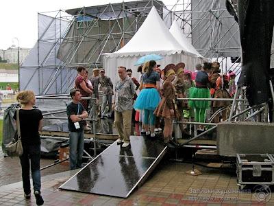 Сцена в Культурном парке Универсиады в Казани