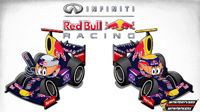 Себастьян Феттель Марк Уэббер Red Bull RB9 Los MiniDrivers 2013