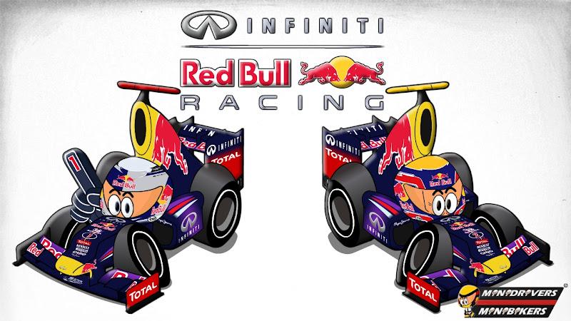Себастьян Феттель Марк Уэббер Red Bull RB9 Los MiniDrivers 2013