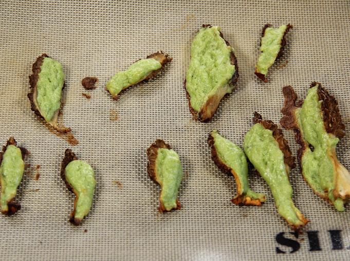 Asparagus Mousse Stuffed Morel