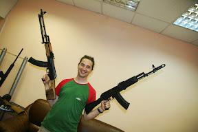 U podrumu muzeja oružja u Iževsku i prava streljana