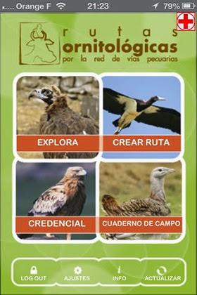 Rutas Ornitológicas por las Vías Pecuarias de la Comunidad, en tu móvil