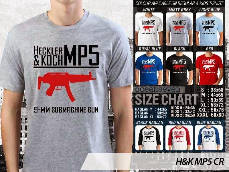 KAOS Militer H&K MP5 distro ocean seven