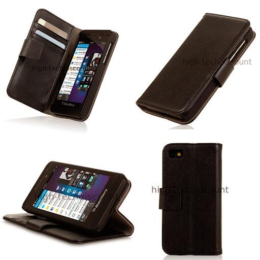 Housse etui coque portefeuille pour blackberry z10 film for Housse pour blackberry curve