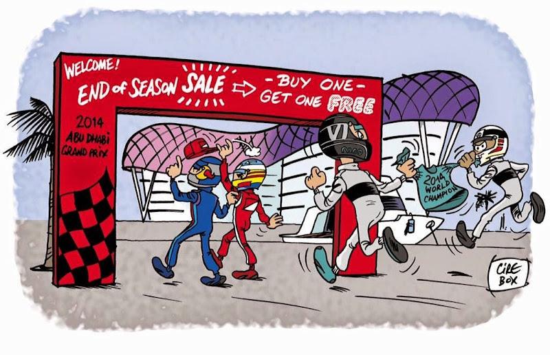 финал сезона на Яс Марине - комикс Cirebox перед Гран-при Абу-Даби 2014