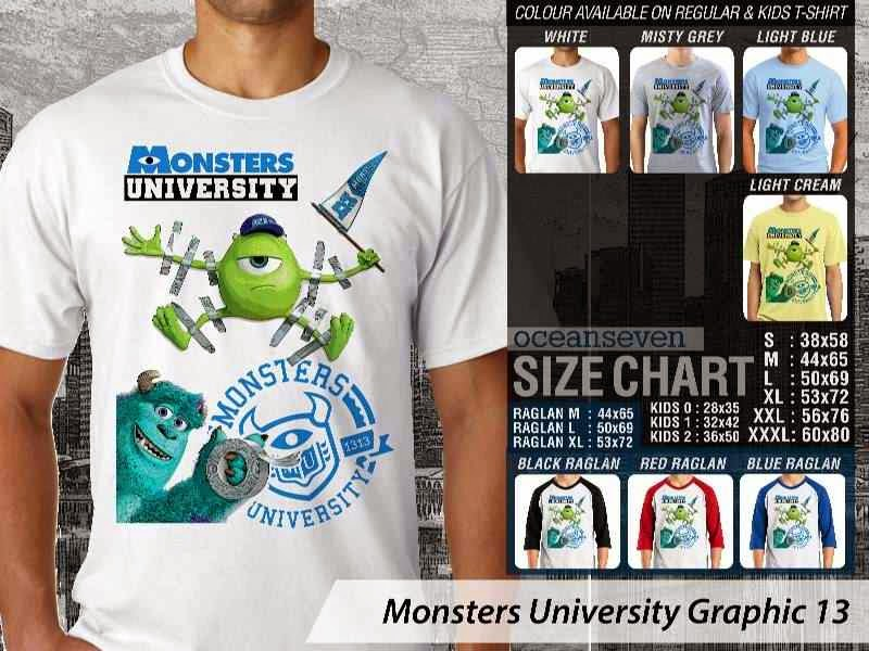 KAOS Monster University 23 Film Lucu distro ocean seven