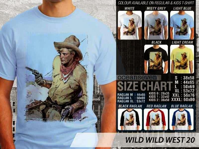 Kaos Cowboy Americana 20 Wild West distro ocean seven