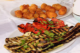 Fried Cauliflower, Potato Croquettes, Grilled Peppers & Eggplant - Pontone, Italy