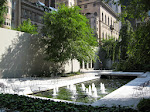 The MoMA sculpture garden reflecting pool