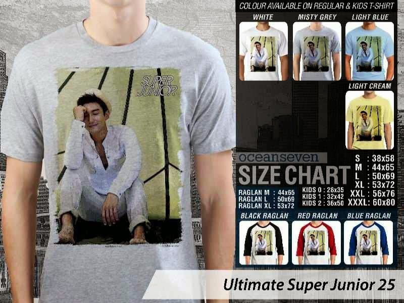 Kaos K Pop SUJU Ultimate Super Junior 25 Boy Band Asal Korea distro ocean seven