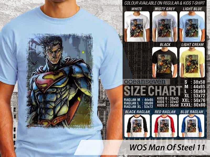 Kaos Superman Hitam Man Of Steel 56 Movie Series distro ocean seven