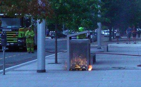 burning bin
