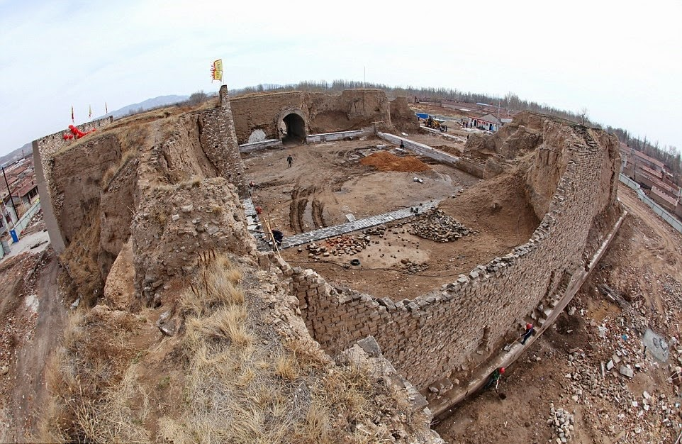 East Asia: Military castle of Ming Dynasty under restoration in Hebei Province