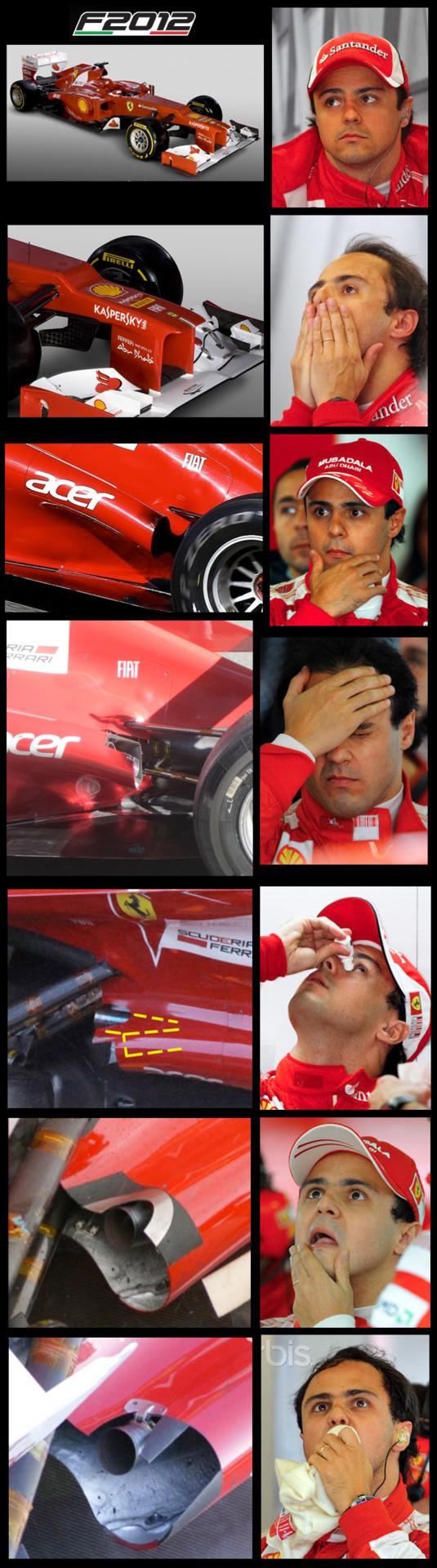 реакция Фелипе Массы на новый болид Ferrari F2012