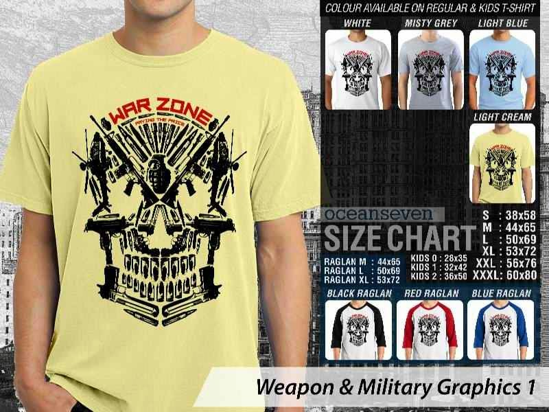 KAOS Militer War Zone Weapon & Military Graphics 1 distro ocean seven