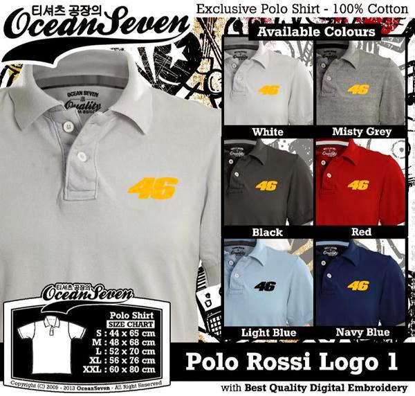 POLO Valentino Rossi Logo distro ocean seven