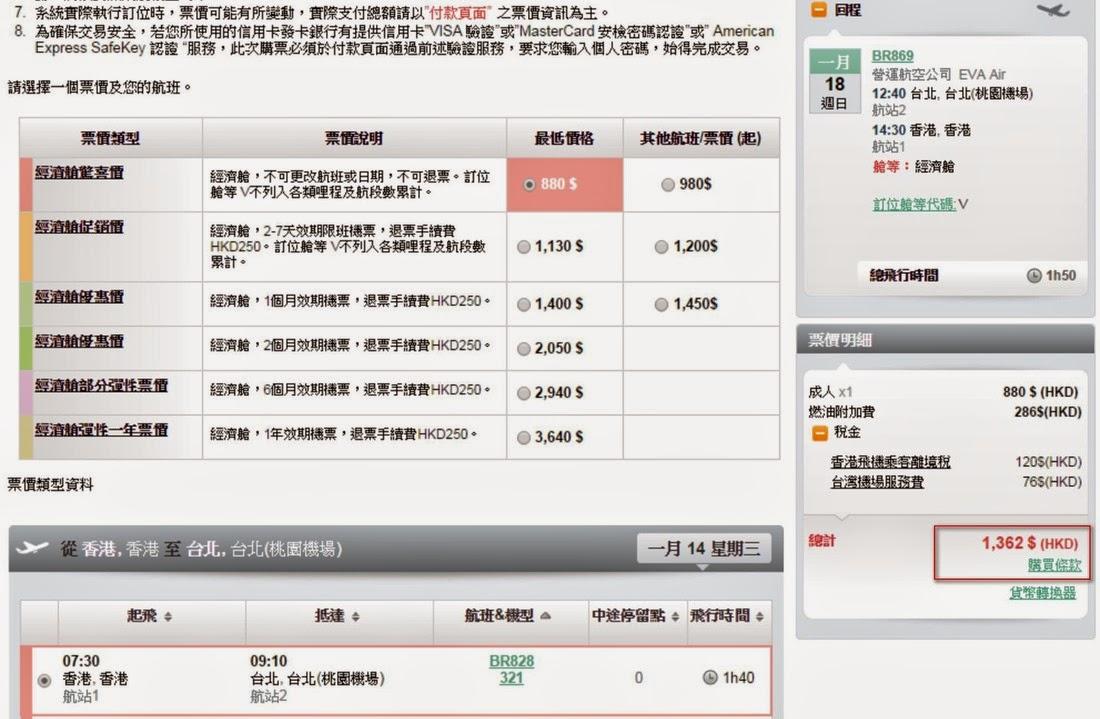 ↓1-3月農曆年假期以外日子出發,$880起($1,362連稅)