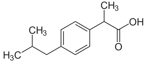 Structure Of Ibuprofen