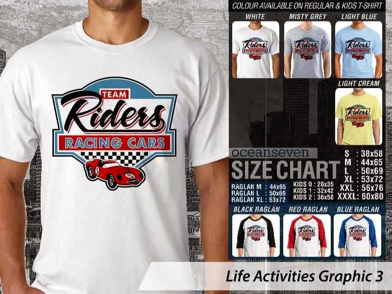 KAOS Team Riders Racing Cars Life Activities Graphic 3 distro ocean seven