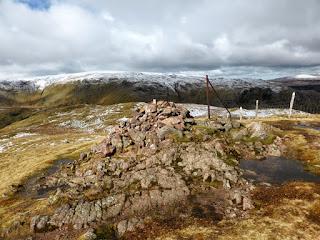 Steel Fell Summit. Ullscarf is on the horizon.