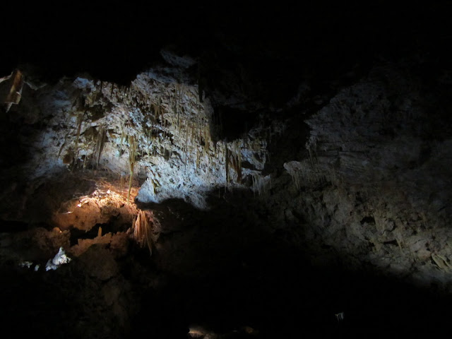 Beautiful stalactites in the underground caves of Yanchep National Park.
