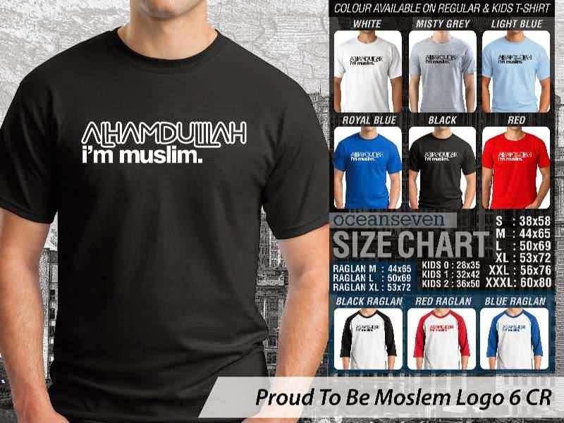 KAOS Muslim Alhamdulillah im muslim. Proud To Be Moslem Logo 6 distro ocean seven
