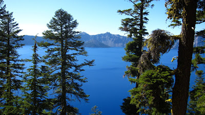 Across Crater Lake to Wizard Island