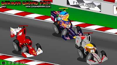 Марк Уэббер подбирает Фернандо Алонсо - Los MiniDrivers по гонке на Гран-при Германии 2011 на Нюрбургринге