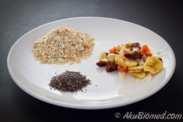bahan-bahan overnight oat