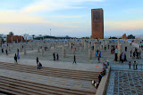 "Moroccans Visiting ""The Unfinished Mosque"" - Rabat, Morocco"