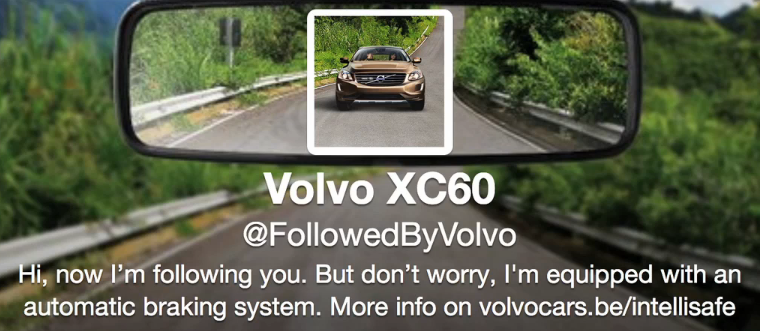 "Volvo XC60 — Twitter Ad Campaign ""FollowedByVolvo"""