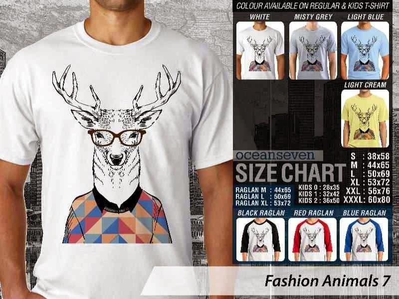 Kaos Fashion Animals 7 Binatang Rusa distro ocean seven