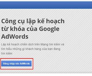đăng nhập google AdWords
