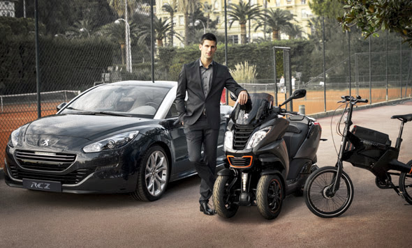 photo of Novak Djokovic Peugeot - car