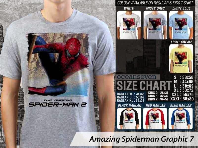 Kaos Film Superhero Amazing Spiderman Graphic 7 distro ocean seven