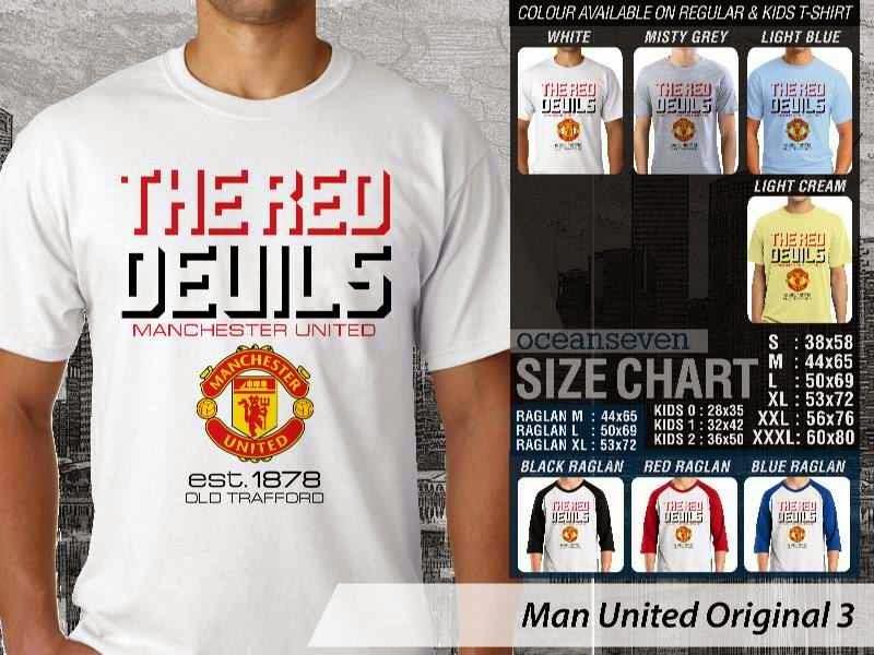 KAOS MU Man Utd Manchester United 36 Logo Klub Bola distro ocean seven